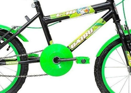 bicicleta infantil masculina - aro 16 racer kids preto verde