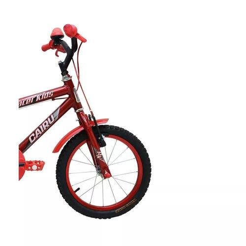 bicicleta infantil masculina - aro 16 racer kids vermelho