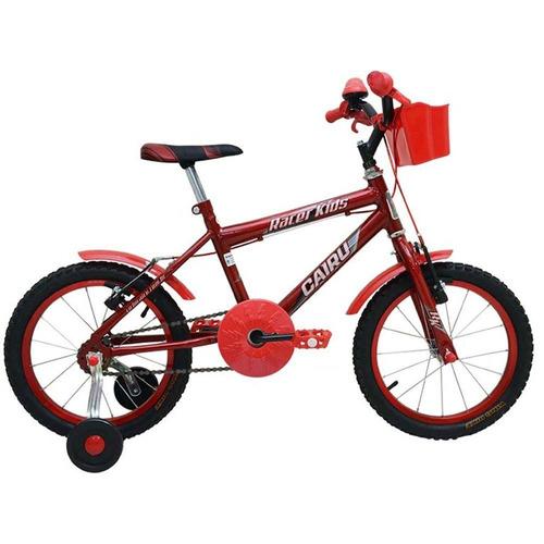 bicicleta infantil masculina  aro 16 vermelho - frete grátis