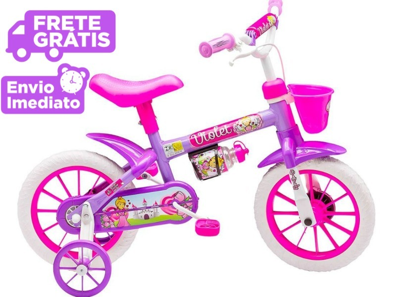 e980e5df4 bicicleta infantil menina nathor aro 12 violet - feminina. Carregando zoom.