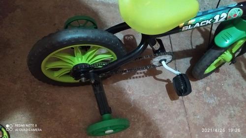 bicicleta infantil nathor black aro 12 ,freios tambor.
