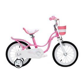 Bicicleta Infantil Niña Rosa Royal Baby Little Swan  Rod 16