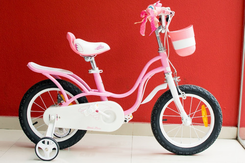 bicicleta infantil niña rosa royal baby little swan  rod 16