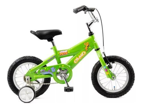 bicicleta infantil olmo cosmo pets rodado 12  con rueditas