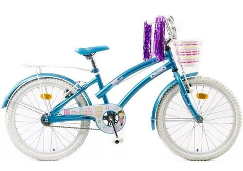 bicicleta infantil olmo tiny dancers rodado 20 nena acero