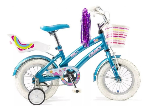 bicicleta infantil olmo tiny friends rodado 16 nena acero