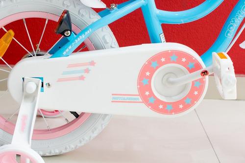 bicicleta infantil royal baby star girl niña rodado 14