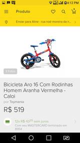 b75242938 Bicicleta Aro 12 Homem Aranha Caloi - Bicicletas Infantis no Mercado Livre  Brasil