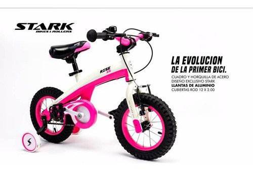 bicicleta infantil stark rodado 12 rice xr aluminio timbre