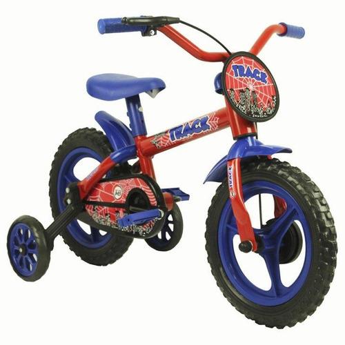 bicicleta infantil track & bikes arco íris, aro 12 azul/verm