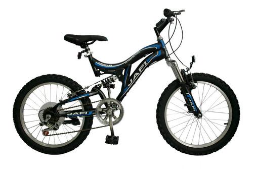 bicicleta jafi montañera apolo 5v doble suspensión aro 20