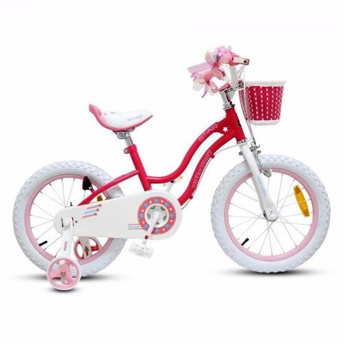bicicleta junior royal baby niño aro 16 azul y roja urbano