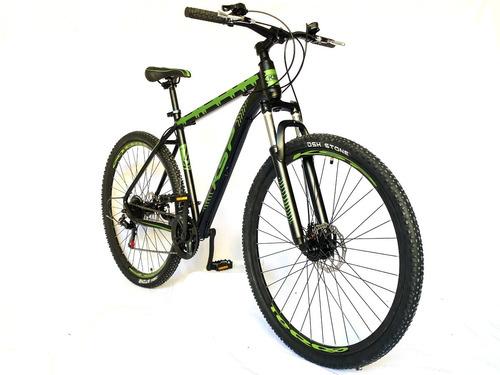 bicicleta kawasaki rodado 29 21 vel frenos a discos aluminio