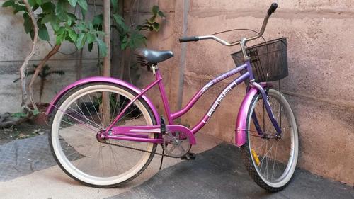 bicicleta lahsen beach cruiser violeta