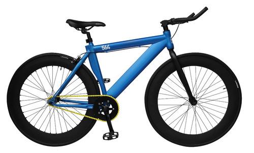 bicicleta lahsen krom urbano fixed 564 color azul