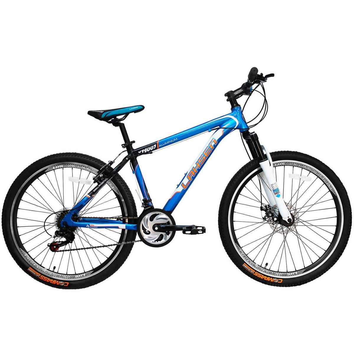 bicicleta lahsen xt 9007 mtb aro 26 aluminio color azul