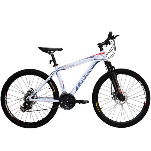 bicicleta lahsen xt 9009 titanio mtb aro 26 aluminio/ blanco