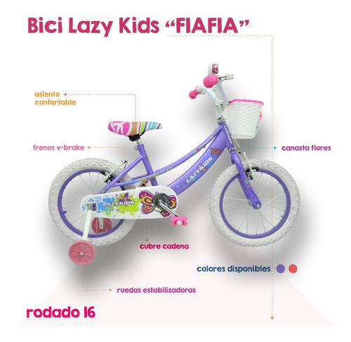 bicicleta lazy nena niña rodado 16 equipada m1