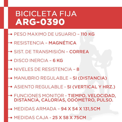 bicicleta magnetica randers arg0390 cuotas sin interés