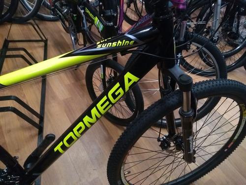 bicicleta mega mountain 29 sunshine shimano suspension disco