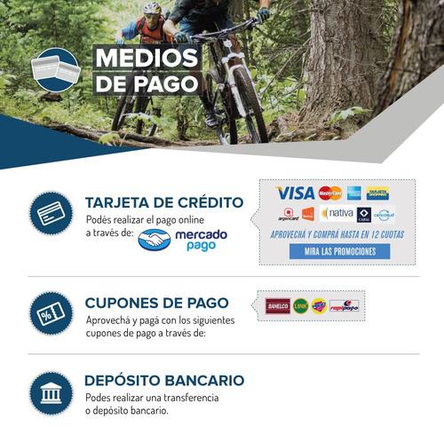bicicleta mega mountain 29 sunshine suspension disco + casco