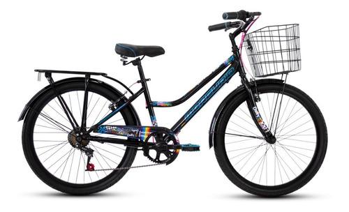 bicicleta mercurio country capressi 6 velocidades canasta parrilla rodada 24