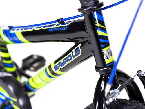 bicicleta mercurio infantil spyro ruedas entrenadoras rodada 16
