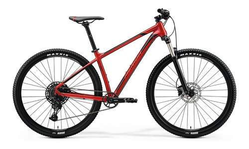 bicicleta merida big.nine 400 aro 29 silk xmas red(black/red