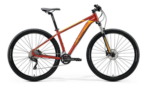 bicicleta merida big.nine 80 aro 29 glossy sparkling red