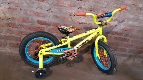 bicicleta mini fat mongoosse  modelo lil' bubba aro 16