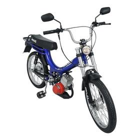 Bicicleta Mobilete 2 Tempos 60cc Moby Farol De Led Bikelete