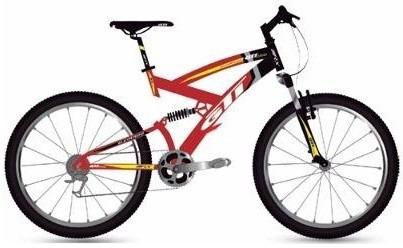 bicicleta  montañera 26 gti doble suspension  21 velocidades