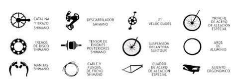 bicicleta  montañera gti shimano 26 doble suspension