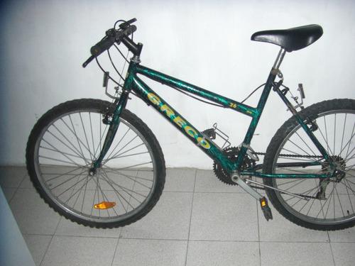 bicicleta montañera rin 26 marca greco