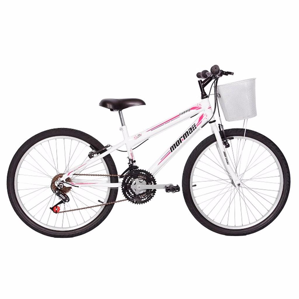 Bicicleta Mormaii Aro 24 Fantasy Com Cesta - Branco - R  749,00 em ... 647d35415e