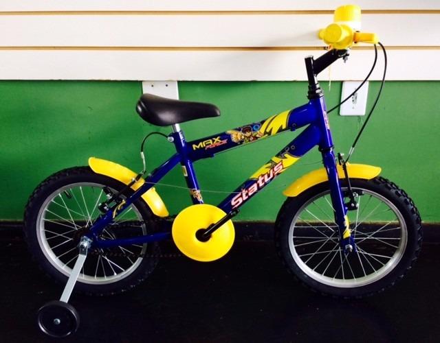 ba85a55e0dbed Bicicleta Mormaii Infantil Nova Aro 16 Cor Azul Max Force - R  391 ...