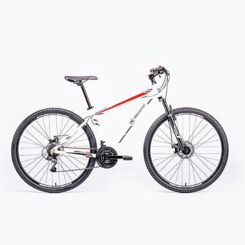 bicicleta motomel r29 mtb maxam190 ts blanco y rojo