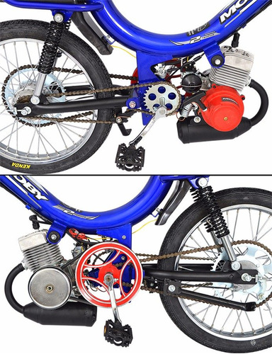 bicicleta motorizada mobilete  2t  bikelete