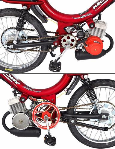 bicicleta motorizada mobilete 2t bikelete promoção 40cc