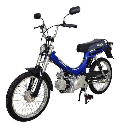 bicicleta motorizada moby 4 tempos bikelete azul