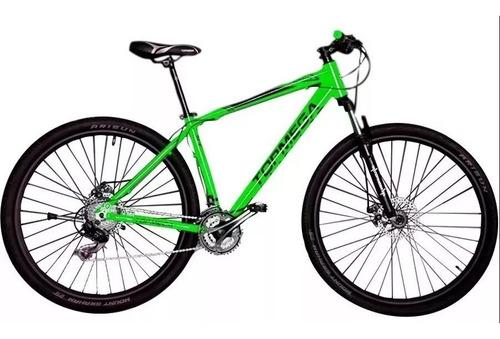 bicicleta mountain bike r29 top mega sunshine aluminio 18 cuotas + regalo + envio