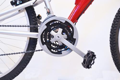 bicicleta mountain bike rodado 26 doble suspension forest cuadro y llantas reforzados - cambios - colores happy buy