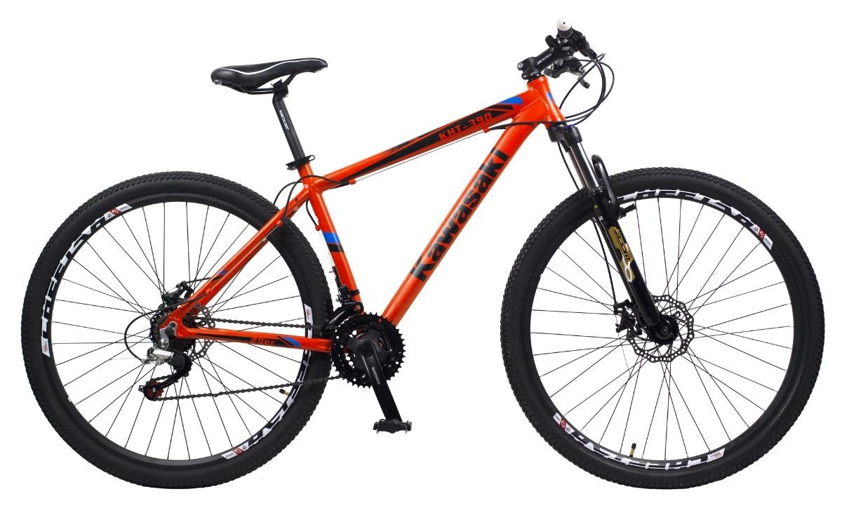 55241cdce bicicleta mountain bike rodado 29 freno disco kawasaki 21vel. Cargando zoom.