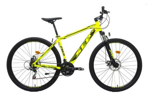 bicicleta mountain bike rodado 29 slp 10 shimano cambios frenos disco llantas doble pared suspension nuevas cuotas happy