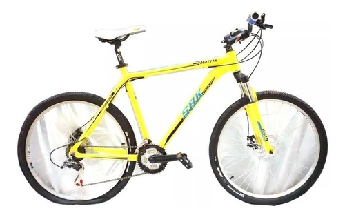 bicicleta mountain bike sbk matrix aluminio r26 21v shimano + linga