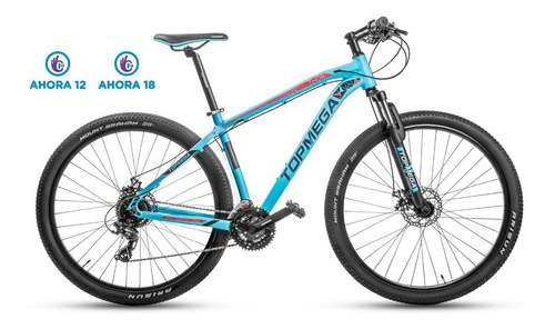bicicleta mountain bike top mega thor r29 24v shimano + led