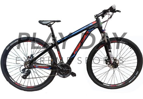 bicicleta mountain firebird aluminio rodado 29 shimano disco suspension regulacion y bloqueo cableado interno