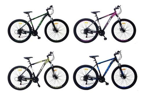 bicicleta mountain r29 kawasaki aluminio shimano 21v promo
