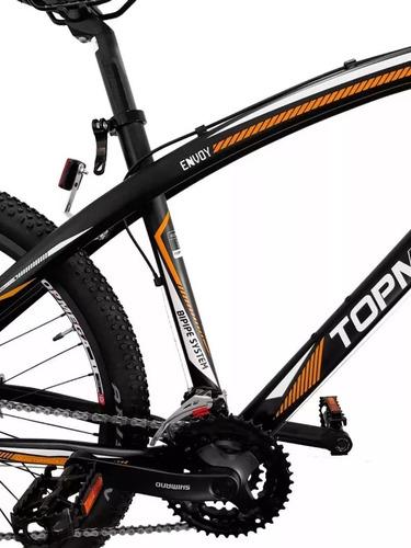 bicicleta mountain topmega envoy r26 21v shimano armado+kit
