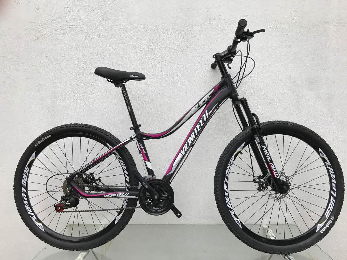 3545c523d bicicleta mtb 29 feminino vicinitech mod. lady 27 vel disco. Carregando  zoom.